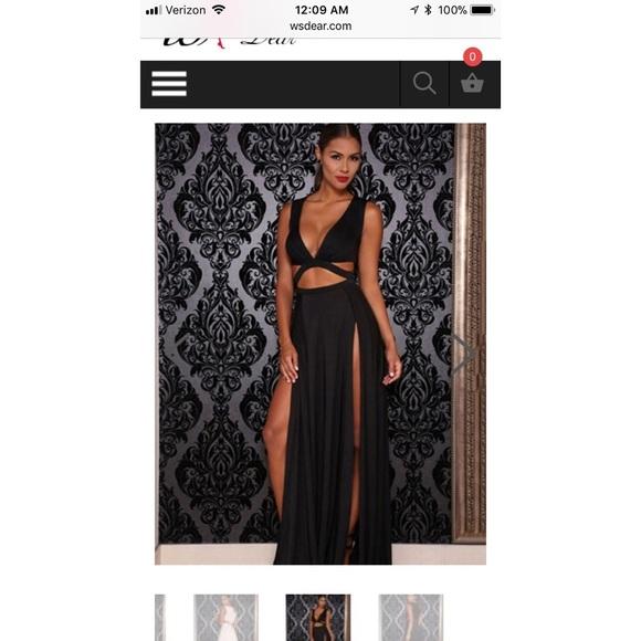 Wsdear Dresses Silky Black Sexy Formal Dress With Slits Poshmark